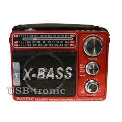 Портативная акустика WAXIBA XB 201URT c радио и mp3 Красная