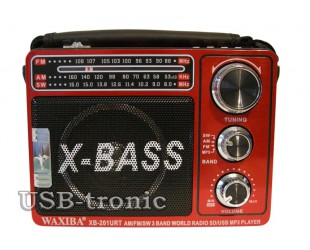 Портативная акустика с радио и MP3 плеером