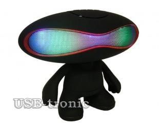 """Портативная акустика с Bluetooth """"Rugby Q30A Bluetooth"""" с цветомузыкой и MP3"""