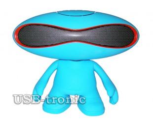 """Музыкальная колонка """"Rugby Q30A"""" с Bluetooth и MP-3 (синяя)"""