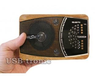 Портативный радиоприемник RS-9818 + MP3 плеер с USB входом