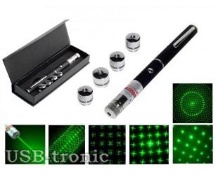 Лазерная указка Laser Pointer 5 насадок