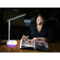 Сенсорная настольная лампа светильник Led Touch Lamp с календарем, термометром и часами