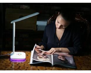 Сенсорная настольная лампа Led Touch Lamp с календарем, термометром и часами
