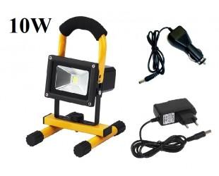 Переносной светодиодный прожектор фонарь 10Вт  24 Led Литиевый аккумулятор