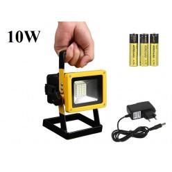 Переносной светодиодный прожектор фонарь 10 Вт 3 литиевыx аккумулятора