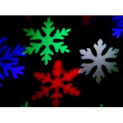 Проектор уличный Цветные светодиодные снежинки для дома и улицы