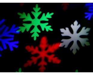 """Уличный светодиодный проектор """"Цветные снежинки"""" для дома и улицы"""