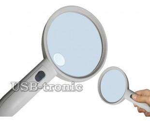 Большая увеличительная лупа с белой и ультрафиолетовой подсветкой MG6B-8