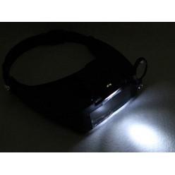 Налобная лупа с подсветкой Kromatech MG81007-A