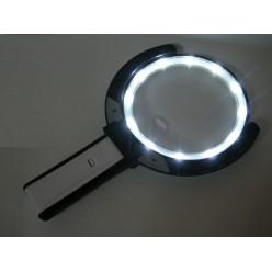 Складная настольная лупа 1,8x/5x MG3B-1D с подсветкой 12 LED и питанием от сети 220V