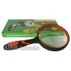 Большая увеличительная лупа Magnifying Glass линза 100 мм Кратность x3