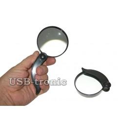 Складная ручная лупа Magnifying Glass с линзой 75 мм Кратность x2