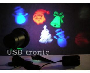 """Светодиодный проектор для улицы """"Новогодние рисунки"""" для праздничного украшения вашего дома"""