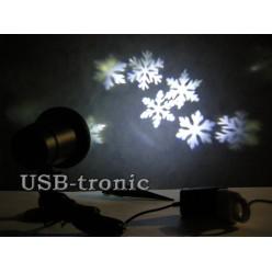 """Уличный светодиодный проектор """"Снежинки"""" для дома и улицы"""