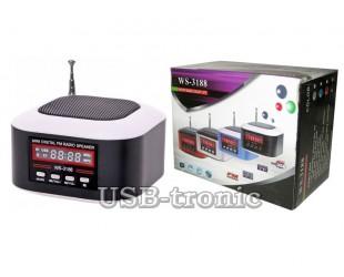 Мини радиоприемник WS-3188 с MP3 плеером с USB-TF входом