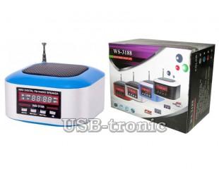 Мини FM приемник WS-3188 с MP3 плеером с USB-TF входом