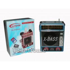 Радиоприемник YUEGAN с usb входом и с mp3 9х12 см - Синий