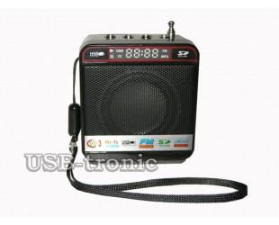 Mini радиоприемник разъемом для флешки для отдыха Черная колонка Wster WS-918