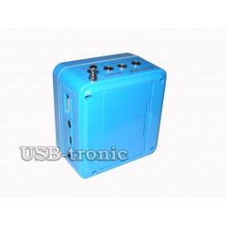 Портативная колонка Wster WS-918 с радио и мп3 плеером Синяя