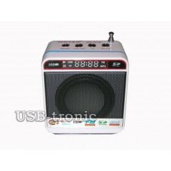 Mini колонка с радио и мп-3 плеером WS-918 Белая