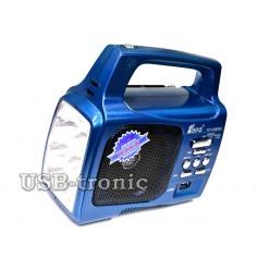 Портативный радиоприемник для дачи с фонарем