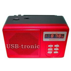Радиоприемник с mp3 USB+TF New Kanon KN-11UBT - Красный