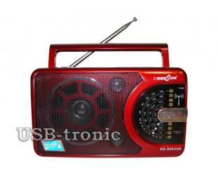 Портативный радиоприемник RS-906 + MP3 плеер с USB входом