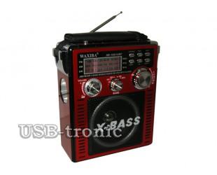 Большой радиоприемник с USB входом для флешки WAXIBA XB-1051