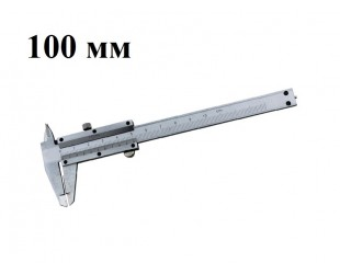 Металлический штангенциркуль 100 мм цена деления 0,1 с глубиномером Цена 499 руб