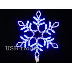 Светодиодная фигура Синяя снежинка 57см Winner Light