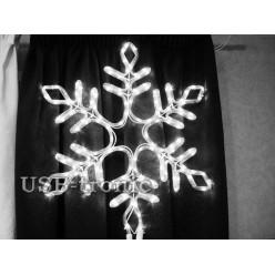 Светодиодная фигура Белая снежинка 57см Winner Light