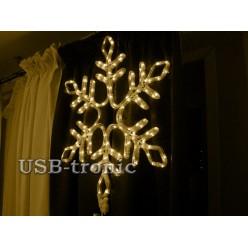 Светодиодная фигура Желтая снежинка 57см Winner Light