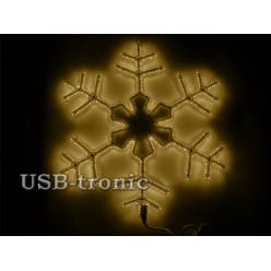 Светодиодная фигура Желтая снежинка 60см Winner Light