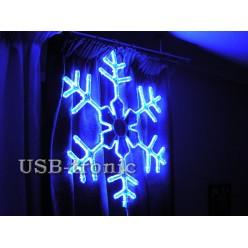Светодиодная фигура Синяя снежинка 60см Winner Light