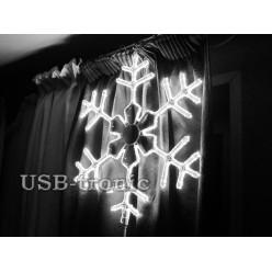 Светодиодная фигура Белая снежинка 60см Winner Light