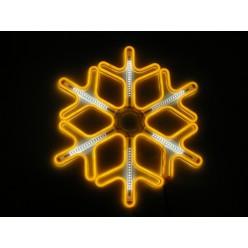 Световая фигура Желтая светодиодная снежинка 60 см