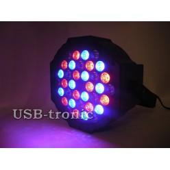 Стробоскоп цветной программируемый 36 LED для дискотеки Flat Par Light 36 Led