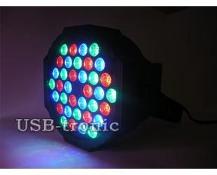 Цветной стробоскоп программируемый 36 LED для дискотеки Flat Par Light 36 Led