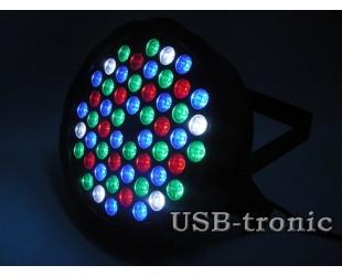 Программируемый стробоскоп для дискотеки Flat Par Light 54 светодиода 4 цветов RGBW
