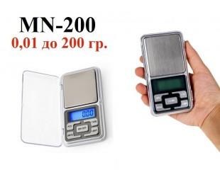 Портативные электронные весы MN-200  0,01-200 грамм