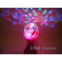"Цветомузыкальная LED диско лампа ""Кубок"". Розовый корпус."