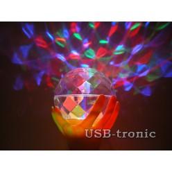 Цветомузыкальная диско лампа для вечеринок цвет Золото