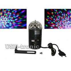 Светодиодная диско лампа с креплением Черный корпус Нет в наличии