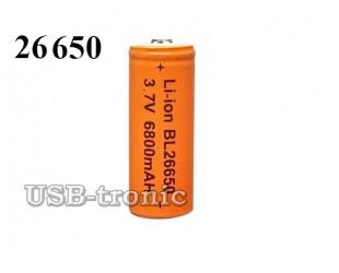 Аккумулятор BL 26650 3.7V 6800 мАч  для светодиодных фонарей